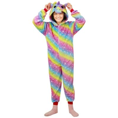 A2Z Trendz Kids Girls Unicorn A2Z Onesie One Piece Extra Soft Fluffy 3D Rainbow Galaxy All In One Xmas Halloween Easter Cosplay Costume Lounge Wear Suits New Age 2 3 4 5 6 7 8 9 10 11 12 13 Years