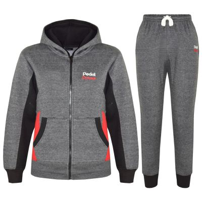 A2Z Trendz Kids Boys Girls Tracksuit Designer's Pedal Power Print Charcoal Zipped Hooded Top & Botom Jogging Suit Joggers New Age 5 6 7 8 9 10 11 12 13 Years