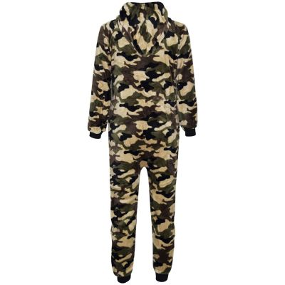 A2Z Trendz Kids Girls Boys Onesie Extra Soft Fluffy Camouflage All In One Halloween Costume New Age 7 8 9 10 11 12 13 14 Years