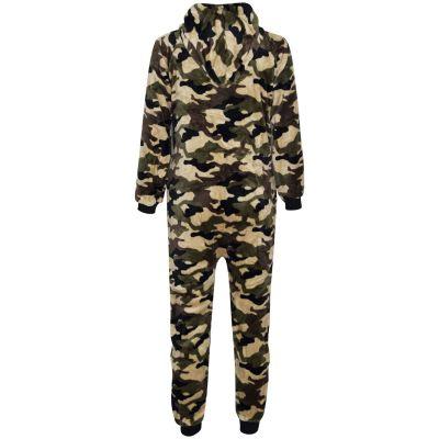 Kids Girls Boys Extra Soft Camouflage Print Onesie