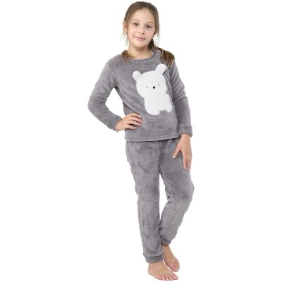 A2Z Trendz Kids Girls Boys Pyjamas Extra Soft Polar Bear Loungewear Sleepwear Flannel Fleece Trendy Fashion Outfit Sets Nightwear PJS New Age 2 3 4 5 6 7 8 9 10 11 12 13 Years