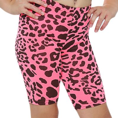A2Z Trendz Kids Girls Cycling Shorts Leopard Print N.Pink Gym Dance Running Trendy Fashion Summer Short Knee Length Half Pant New Age 5 6 7 8 9 10 11 12 13 Years
