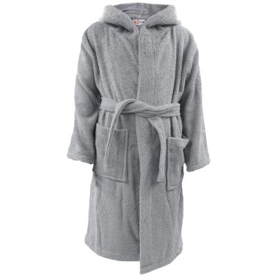 A2Z Trendz Kids Girls Boys Dressing Gown Towel Bathrobe Cotton Soft Terry Steel Grey Hooded Home Hotel Luxury Caftan Robe Houscoat Comfy Morning Dress Loungesuit Age 2 3 4 5 6 7 8 9 10 11 12 13 Years