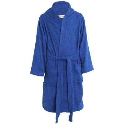 Girls Boys Royal Blue Towel Bathrobe