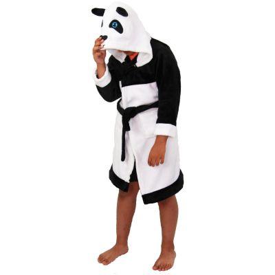 A2Z Trendz Kids Boys Girls Bathrobes Designer's 3D Animal Panda Hooded Soft Short Fleece Dressing Gown Nightwear Loungewear Age 2-13 Years