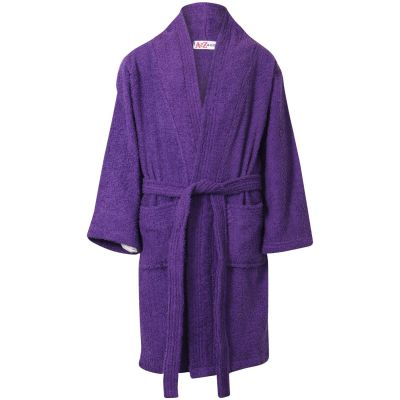 Girls Purple Towel Bathrobe