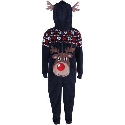 A2Z Trendz Kids Girls Boys A2Z Onesie One Piece Extra Soft Fluffy Reindeer All In One Xmas Costume Xmas Gift New Age 9-10 Years