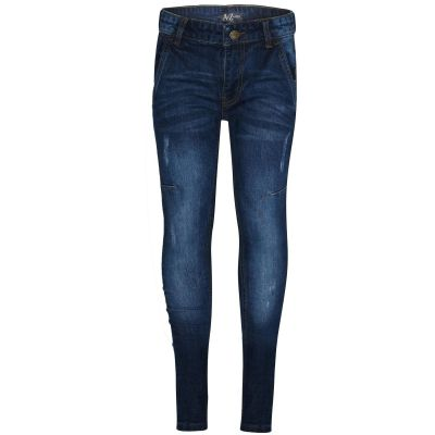 A2Z Trendz Kids Boys Skinny Jeans Designer Blue Denim Ripped Bikers Fashion Stretchy Pants Trendy Slim Fit Adjustable Waist Trousers New Age 5 6 7 8 9 10 11 12 13 Years