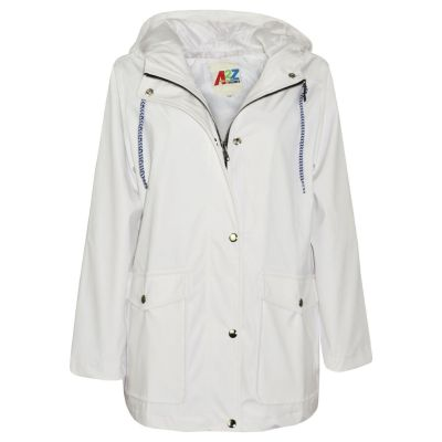 A2Z Trendz Kids Girls Boys PU Raincoat Jackets Designer's White Windbreaker Waterproof Cagoule Hooded Rainmac Shower Resistant Coats Age 5 6 7 8 9 10 11 12 13 Years