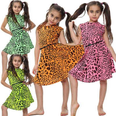Skater Dress Leopard Print Dance Party Summer Dresses