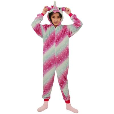 A2Z Trendz Kids Girls Unicorn A2Z Onesie One Piece Extra Soft Fluffy 3D Pink Galaxy All In One Xmas Halloween Easter Cosplay Costume Lounge Wear Suits New Age 2 3 4 5 6 7 8 9 10 11 12 13 Years
