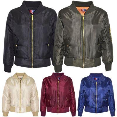 A2Z Trendz Kids Jacket Girls Boys Bomber Padded Zip Up Biker Jacktes MA 1 Coat Age 3 4 5 6 7 8 9 10 11 12 13 Years