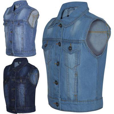 A2Z Trendz Kids Girls Denim Jacket Designer's Fashion Jeans Gilet Faded Stylish Sleeveless School Jackets Coats New Age 3 4 5 6 7 8 9 10 11 12 13 Years