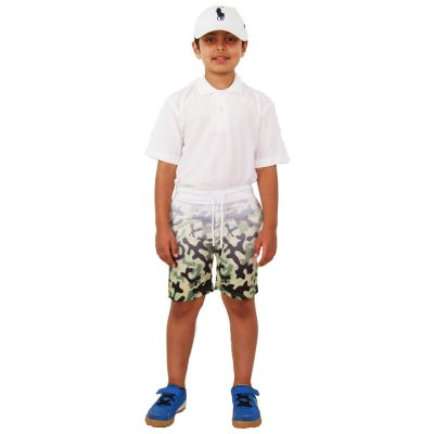 A2Z Trendz Kids Boys Girls Shorts Two Tone Camouflage Green Chino Summer Short Casual Knee Length Half Pant New Age 3 4 5 6 7 8 9 10 11 12 13 Years