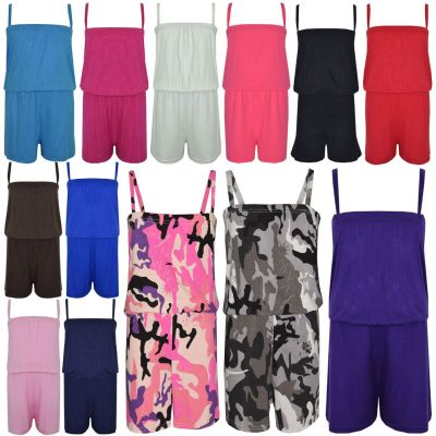 A2Z Trendz Girls Jumpsuit Kids Plain Color Trendy Playsuit All In One Summer Jumpsuits New Age 5 6 7 8 9 10 11 12 13 Years
