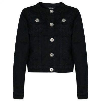 A2Z Trendz Kids Girls Denim Jackets Designer's Trendy Black Fashion Jeans Jacket Stylish Coats New Age 3 4 5 6 7 8 9 10 11 12 13 Years
