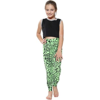 A2Z Trendz Kids Girls Ali Baba Style Leopard Print Trendy Fashion Harem Trouser Leggings Pants Age 5 6 7 8 9 10 11 12 13 Years