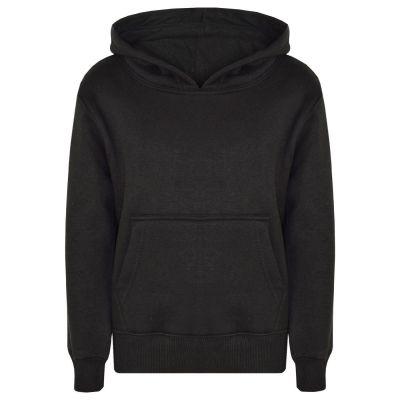 A2Z Trendz Kids Girls Boys Sweat Shirt Tops Designer's Casual Plain Black Pullover Sweatshirt Fleece Hooded Jumper Coats New Age 2 3 4 5 6 7 8 9 10 11 12 13 Years