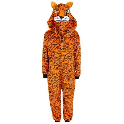 A2Z Trendz Kids Girls Boys A2Z Onesie One Piece Extra Soft Fluffy Tiger All In One Halloween Costume New Age 7 8 9 10 11 12 13 14 Years