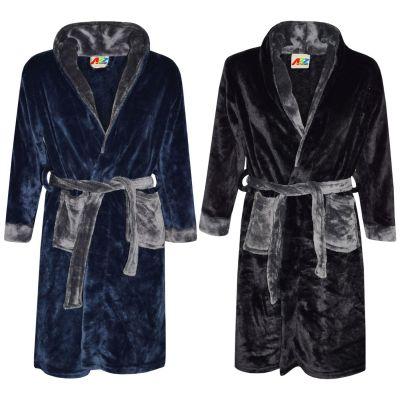 A2Z Trendz Kids Girls Boys Bathrobes Designer's Plain Hooded Soft Short Dressing Gown Nightwear Loungewear Age 2-13 Years