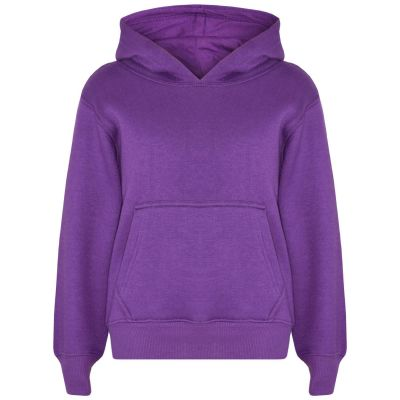 A2Z Trendz Kids Girls Boys Sweat Shirt Tops Designer's Casual Plain Purple Pullover Sweatshirt Fleece Hooded Jumper Coats New Age 2 3 4 5 6 7 8 9 10 11 12 13 Years