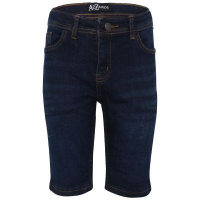 A2Z Trendz Boys Chino Bermuda Skinny Jeans Pants - Shorts Denim S04 Dark Blue 5-6
