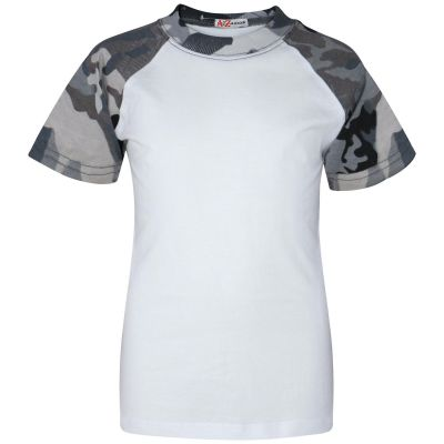 A2Z Trendz Kids Boys Girls Camo Charcoal T Shirts Designer's 100% Cotton Plain Baseball Short Raglan Sleeves Team Sports Tee Soft Feel Casual T-Shirts New Age 2 3 4 5 6 7 8 9 10 11 12 13