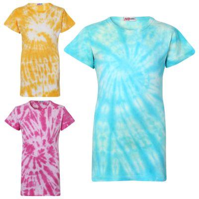 Girls Tie Dye Print Summer T Shirt Top