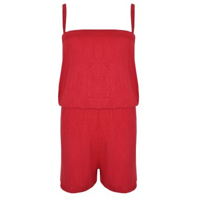 A2Z Trendz Girls Jumpsuit Kids Plain Red Color Trendy Playsuit All In One Summer Jumpsuits New Age 5 6 7 8 9 10 11 12 13 Years