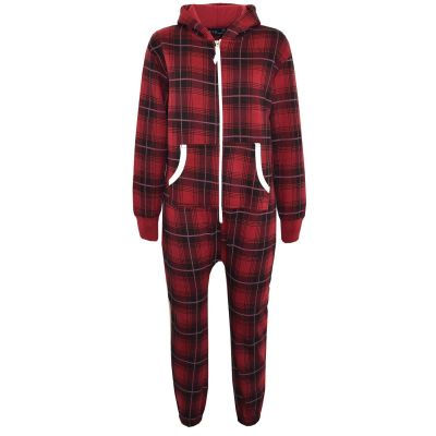 A2Z Trendz Kids Onesie Girls Tartan Print All In One Jumsuit Playsuit New Age 5 6 7 8 9 10 11 12 13 Years