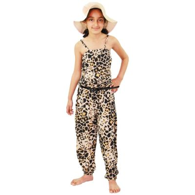 A2Z Trendz Kids Girls Jumpsuit Leopard Print Trendy Summer Party Off Shoulder Playsuit All In One Age 7 8 9 10 11 12 13 Years