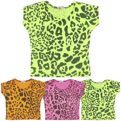 A2Z Trendz Kids Girls Crop Tops Leopard Print Stylish Fahsion Trendy T Shirt Tank Top & Tees New Age 5 6 7 8 9 10 11 12 13 Years