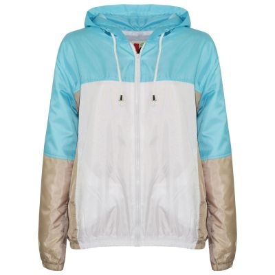A2Z Trendz Kids Girls Boys Windbreaker Jackets Designer's Contrast Panel Aqua Zipped Light Weight Hooded Kagoul Raincoats Rain Mac Age 5 6 7 8 9 10 11 12 13 Years