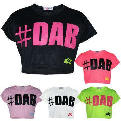 A2Z 4 Kids Kids Girls Crop Top Designers #Selfie Black Tops Trendy Floss Fashion Belly Shirt Trendy T Shirt Tees New Age 5 6 7 8 9 10 11 12 13 Years