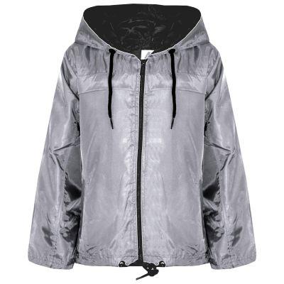 A2Z Trendz Girls Boys Raincoats Jackets Kids Grey Lightweight Kag Mac Waterproof Hooded Jacket Cagoule Rain Mac Age 5 6 7 8 9 10 11 12 13 Years
