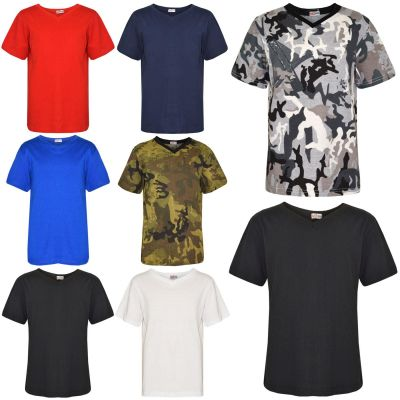 A2Z Trendz Kids Boys Designer's 100% Cotton Plain T-Shirt Soft Feel Tee Ringspun Casual T Shirts New Age 2-13 Years