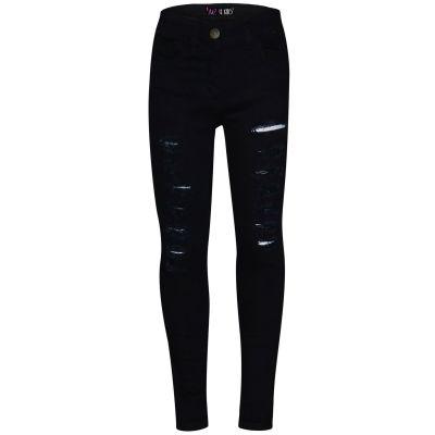 A2Z Trendz Kids Boys Skinny Jeans Designer's Denim Jet Black._Ripped Stretchy Pants Stylish Fashion Slim Trousers New Age 3 4 5 6 7 8 9 10 11 12 13 Years