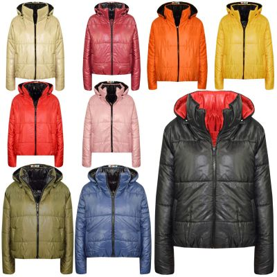 A2Z Trendz Girls Jacket Kids Designer's Reversible Cropped Hooded Padded Quilted Puffer Jackets Warm Thick Coats New Age 5 6 7 8 9 10 11 12 13 Years
