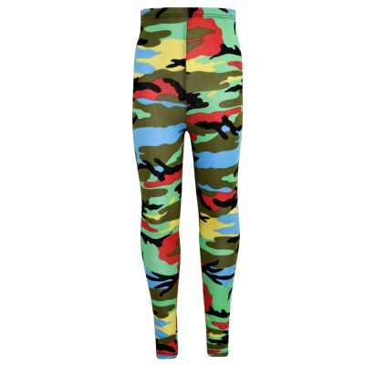 A2Z Trendz Girls Legging Kids Camouflage Print Fashion Multi Color Leggings New Age 7 8 9 10 11 12 13 Years