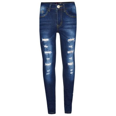 A2Z Trendz Kids Boys Skinny Jeans Designer's Denim Dark Blue._Ripped Stretchy Pants Stylish Fashion Slim Trousers New Age 3 4 5 6 7 8 9 10 11 12 13 Years