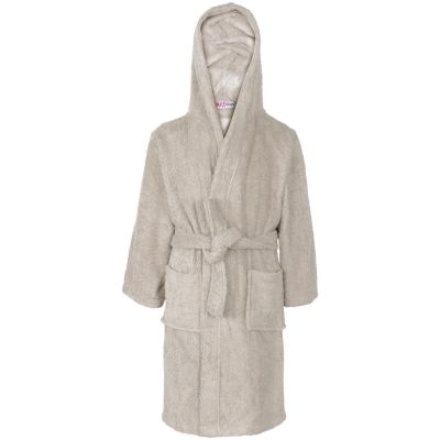 A2Z Trendz Kids Girls Boys Towel Bathrobe 100% Cotton Stone Hooded Terry Towelling Luxury Robes Dressing Gown Loungewear Age 2 3 4 5 6 7 8 9 10 11 12 13 Years