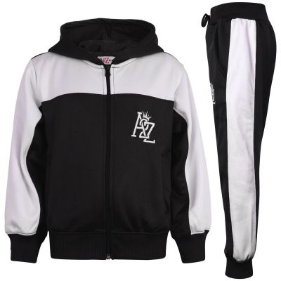 Boys Girls Fleece Hooded Tracksuit