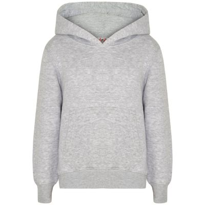 A2Z Trendz Kids Girls Boys Sweat Shirt Tops Designer's Casual Plain Grey Pullover Sweatshirt Fleece Hooded Jumper Coats New Age 2 3 4 5 6 7 8 9 10 11 12 13 Years