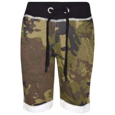 A2Z Trendz Kids Boys Summer Shorts Fleece Green Camouflage Print Chino Shorts Knee Length Half Pant Age 3-13 Years