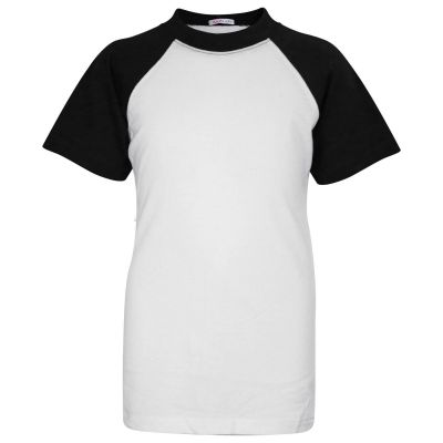 A2Z Trendz Kids Unisex Black T Shirts Designer's 100% Cotton Plain Baseball Short Raglan Sleeves Team Sports Tee Soft Feel Casual T-Shirts New Age 2 3 4 5 6 7 8 9 10 11 12 13 Years