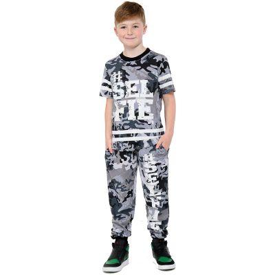 A2Z Trendz Boys Top Kids Designer's #Selfie Camouflage Print Fashion T Shirt Tops & Trouser Set Age 7 8 9 10 11 12 13 Years