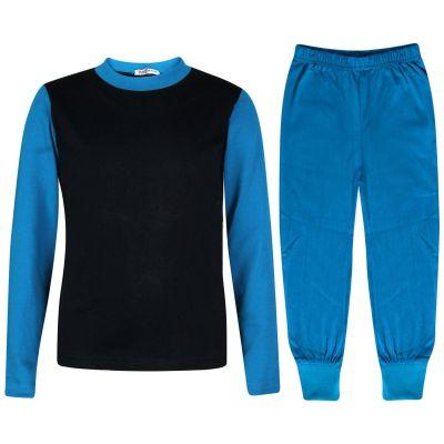 A2Z Trendz Kids Girls Boys Pyjamas Designer's Contrast Blue Color Plain Stylish Pajamas Nightwear Pjs New Age 2 3 4 5 6 7 8 9 10 11 12 13 Years