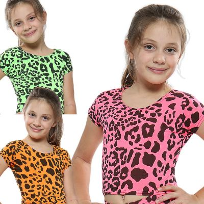 A2Z Trendz Kids Girls Crop Tops Leopard Print Stylish Fahsion Trendy T Shirt Tank Top & Tees New Age 5 6 7 8 9 10 11 12 13 Years