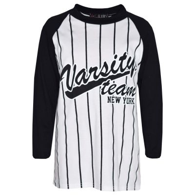 A2Z Trendz Boys Top Kids Designer's Varsity Team New York Print Stylish Fashion Trendy T Shirt Tops Age 7 8 9 10 11 12 13 Years