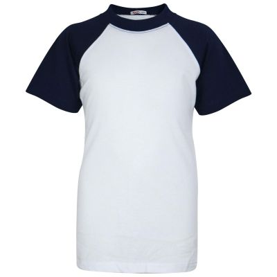A2Z Trendz Kids Boys Girls Navy T Shirts Designer's 100% Cotton Plain Baseball Short Raglan Sleeves Team Sports Tee Soft Feel Casual T-Shirts New Age 2 3 4 5 6 7 8 9 10 11 12 13